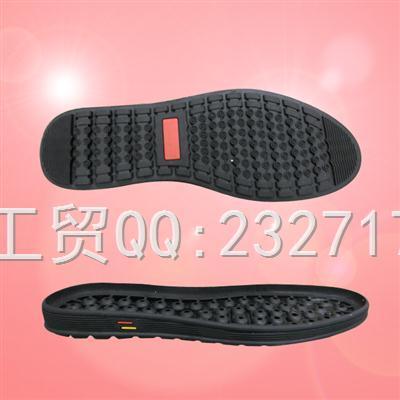 流行休闲时尚运动系列RB橡胶AD-9065/38-43#男款成型底