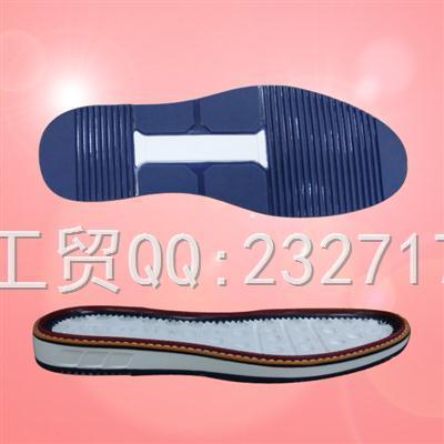流行PU聚氨酯+TPU组合男款k-1636/38-43#休闲运动鞋底