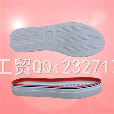 休闲系列RB橡胶贴条B8050/35-39#女款成型底