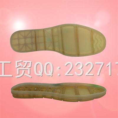 流行男款PVC透明成型底绅士休闲系列22496/38-43#