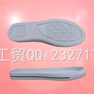 流行女款RB橡胶休闲系列056-8016/35-39#成型底