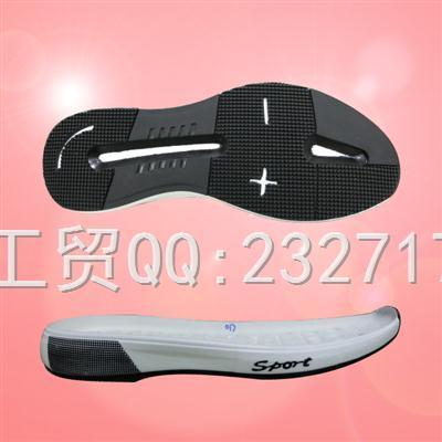 新款运动时尚休闲男底PU聚氨酯+TPU组合E-1684/38-43#