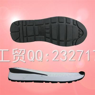 新款运动时尚休闲男底PU聚氨酯+RB橡胶043-85231/38-43#