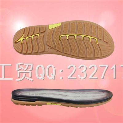 沙滩鞋男款PU聚氨酯+RB橡胶组合AD-7359/38-43#