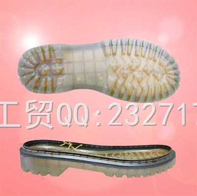 2020新款06PVC透明休闲女款马丁靴系列Y3-7233/35-40#