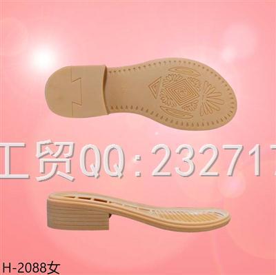 2021新款04RB橡胶女款凉鞋系列1013-2088/35-39#
