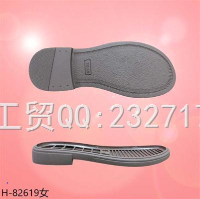 202107新款RB橡胶时尚休闲女款H-82619/35-39#